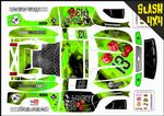 GREEN The Gambler Lucky 13 themed vinyl SKIN Kit To Fit Traxxas Slash 4x4 Short Course Truck